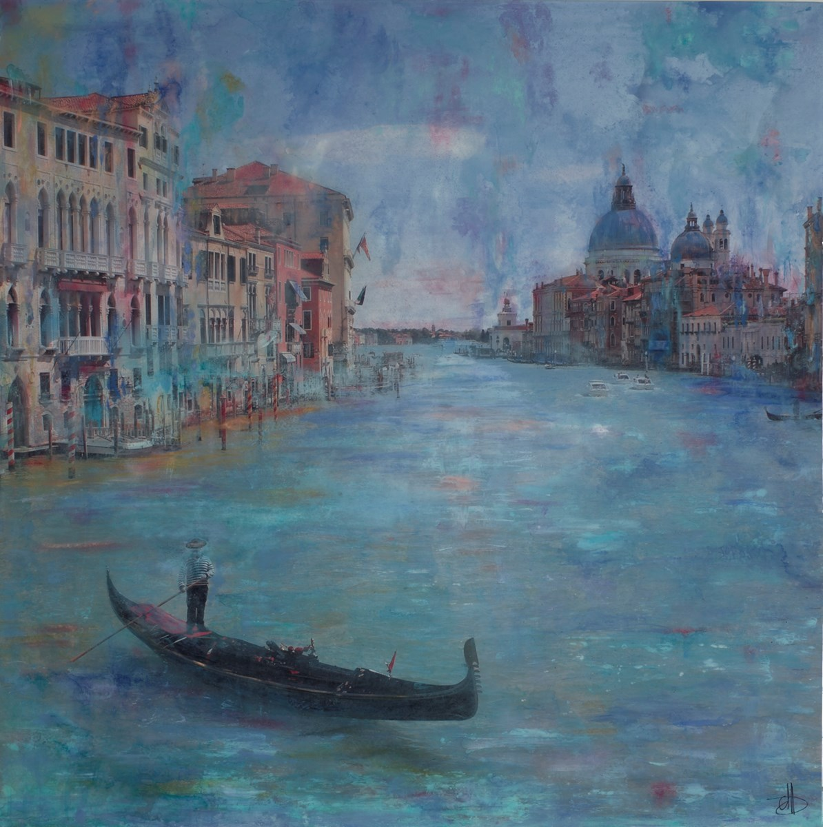Canalasso by annie blanchet rouze -  sized 36x36 inches. Available from Whitewall Galleries